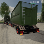 Realer Abrollcontainer transport