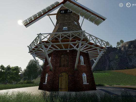 Animierte Mühle