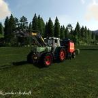 Frisches Grass Pressen