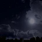 8K Night Sky dynamisch mit aufgehenden Mond