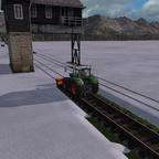 Gleise von Schnee befreien