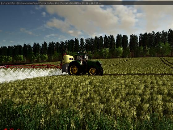 Weizen spritzen