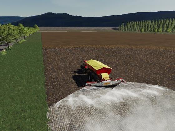 Das größte Feld wird nun auch gekalkt auf eine Lägsbahn passen 3929 Liter