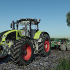 Claas Axion 960 Amazone Cenius 8003-2TX
