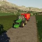 Mais häckseln mit CP AFH auf dem Weg zu Zwischenlager