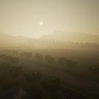 Sonnen aufganng auf der Oberthal