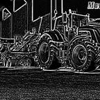 Fendt Traktor mit Neon