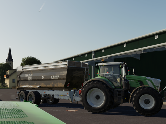 Fendt 936 S4 bei der Getreideernte