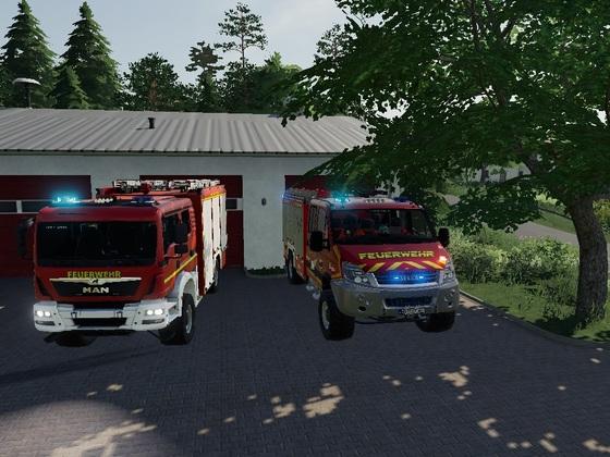 Feuerwehrwache in  Oberellerbach im SP